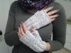 Pletené bezprstové rukavice