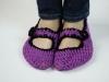Háčkované fialové baleríny