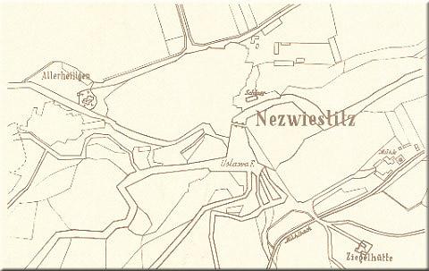 historická mapa obce z konce 18. století